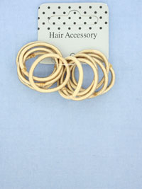 Elastics / Small blonde elastics without ferrule 2cm diamete