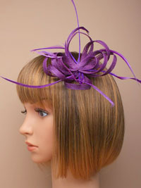 Fascinator / Oriel - Coloured Looped sinamay and feather