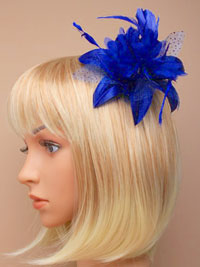 Fascinator / Molly - Royal Feather Flower fascinator.