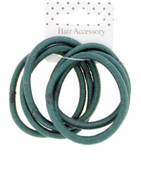 Elastic / Bottle Green Snag free endless elastics. 6pk.