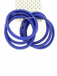 Elastic / Royal blue Snag free endless elastics. 6pk.