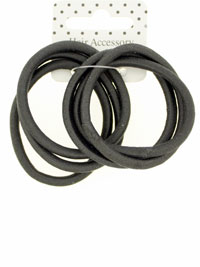 Elastic / Black 4mm Snag free endless elastics. 6pk.