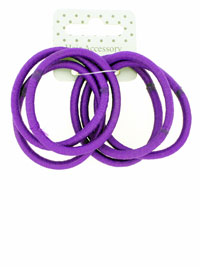 Elastic / Purple Snag free endless elastics. 6pk.