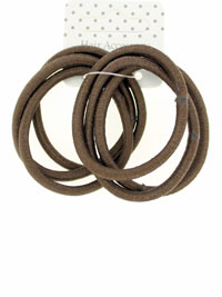 Elastic / Brown Snag free endless elastics. 6pk.