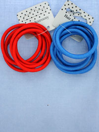 Elastic / Bright coloured Snag free endless elastics. 6pk.