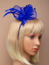 Fascinator / Marie - Royal Coiled and looped fascinator.