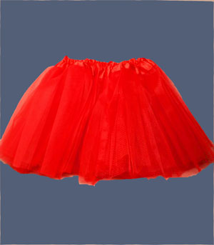 Tutu / Red net child size tutu