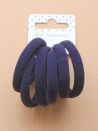 Elastics / Card of 6 Thick navy jersey fabric endless elasti