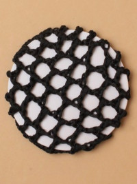 Bun Net / Black Shiny Ribbon 1PK