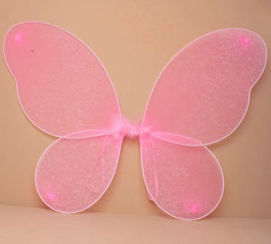 Fairy Wings / Pink net with silver glitter