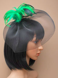Fascinator / Cassandra - Black hatinator with feathers