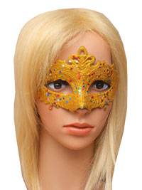 Mask / Coloured glitter with star sequins masquerade mask.