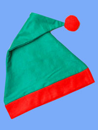 Xmas / Elf hat in Green and Red.