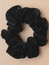Scrunchie / Black velvet fabric scrunchie.
