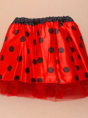 "Tutu / Child size ladybird tutu 15-28"" Waistband."