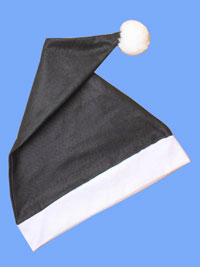 Xmas / Black and white Santa hat