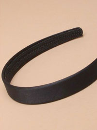Aliceband /  2cm wide Black satin fabric aliceband