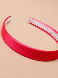 Aliceband /  2cm wide Pink satin fabric aliceband