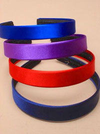 Aliceband /  2cm wide Bright colour satin fabric aliceband