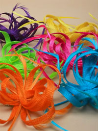 Fascinator / Oriel - Assorted looped sinamay fascinator.