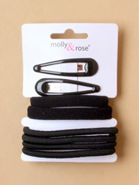 School Set / Black school set of elastics and sleepies