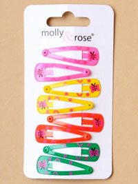 Sleepies / Card of 8 Bright coloured sleepies with butterfly