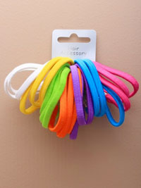 Elastic / 21pk Assorted Brights.