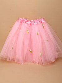 Tutu / Pink net child size Tutu with white roses
