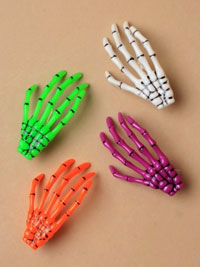 Halloween / Plastic Skeleton Hand Hair Clip.