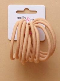 Elastic / 10pk Nude soft stretch 4mm endless elastics