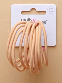 Elastic / 10pk Nude soft stretch 3mm endless elastics.