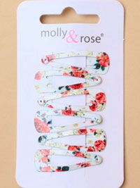 Sleepies / 6 pack rose print 3cm sleepies