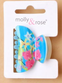 Clamps / 4cm coloured floral plastic clamp.