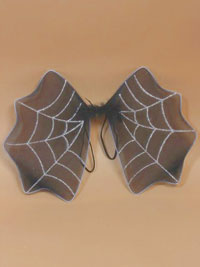 Halloween / Size : 47x35cm. Black bat wings with glitter.