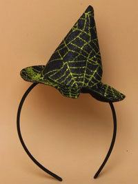 Halloween / Glitter spiders web witches hat aliceband.