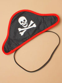 Headband / Black pirate hat headband.