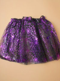 Halloween / Black tutu with spiders web design.