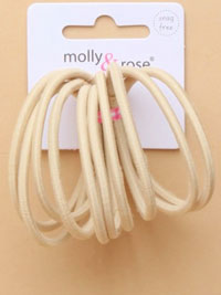 Elastic / 10pk Blonde soft stretch 3mm endless elastic.