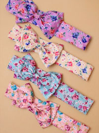 Bandeau / Elasticated floral printed fabric Bandeau bow.