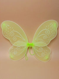 Fairy Wings / Size : 50x45cm. Green net fairy wings.