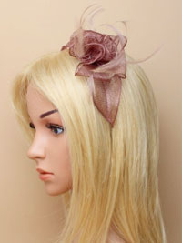Fascinator / Emily - Mocha Looped sinamay and fine feather