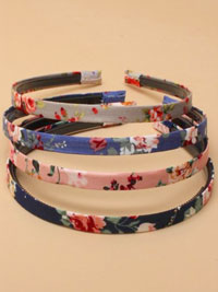 Aliceband / 1cm wide floral fabric aliceband.
