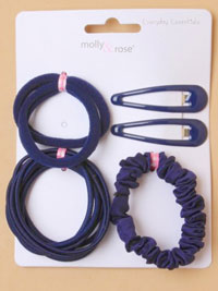 School Set / Navy - sleepies,elastics,scrunchie,Ponios
