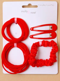 School Set / Red - sleepies,elastics,scrunchie