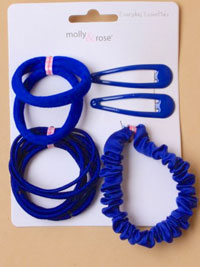 School Set / Royal blue - sleepies,elastics,scrunchie