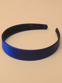 Aliceband / Navy flat satin 2.5cm wide