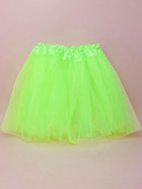 Tutu / Green net child size Tutu with triple layered skirt.