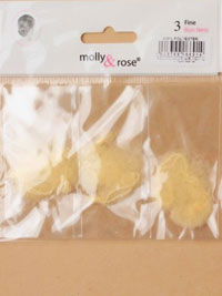 Bun Net / Pack of 3 Fine mesh blonde bun nets.