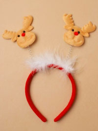 Xmas / Christmas Reindeer deeley bopper headband.