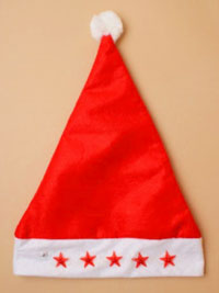 Xmas / Red Flashing stars Santa Hat.
